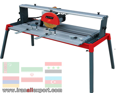 Tile and rock cutting machine